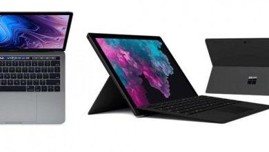 مقارنة شاملة بين حاسوب MacBook Pro وحاسوب Surface Pro 6
