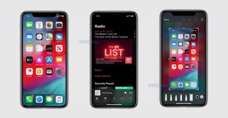 """تسريب لقطات شاشة لميزة """"الوضع الداكن"""" في iOS 13 المرتقب"""