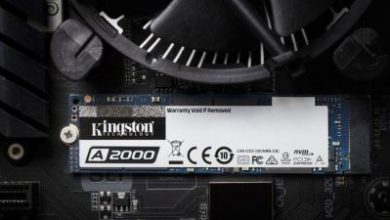 """Photo of كينغستون تطرح الجيل التالي من أقراص تخزين الحالة الصلبة  """"A2000 NVMe PCIe"""""""