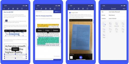 4 تطبيقات تتيح لك تحرير ملفات PDF على الهاتف الذكي