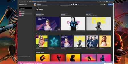 آبل تطلق نسخة الويب من خدمتها الموسيقية آبل ميوزك