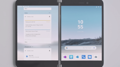 Photo of مقارنة بين هاتف Surface Duo و هاتف سامسونج Galaxy Fold