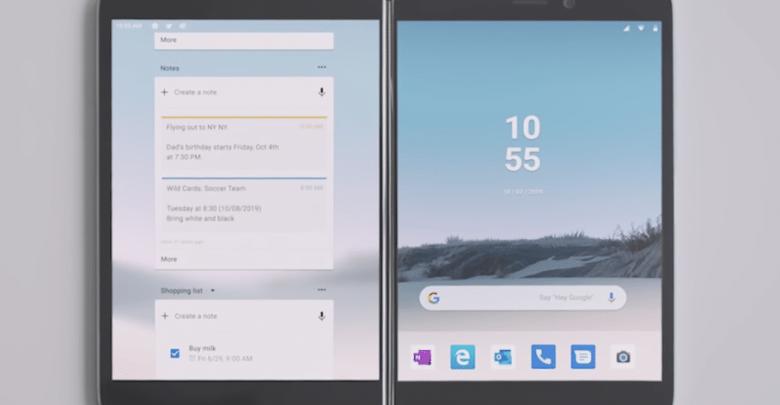 مقارنة بين هاتف Surface Duo و هاتف سامسونج Galaxy Fold