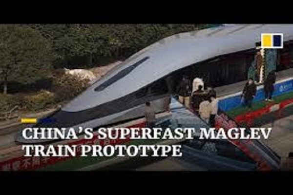 """الصين تكشف عن """"قطار مغناطيسي"""""""