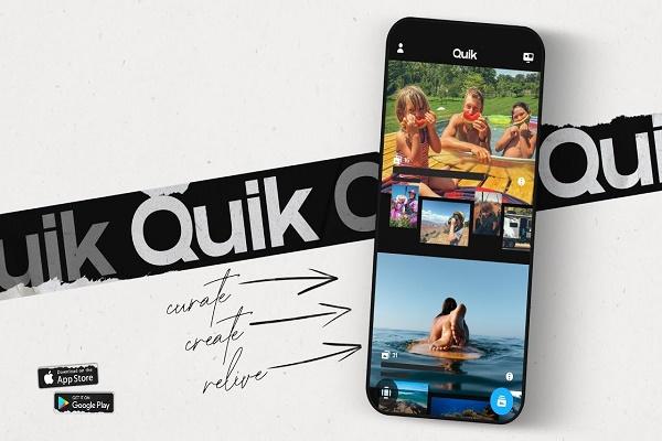 GoPro تعيد إطلاق تطبيقها للهاتف الذكي باسم Quik