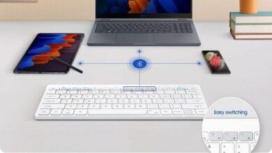 Photo of سامسونج تطلق لوحة مفاتيح لاسلكية تناسب DeX