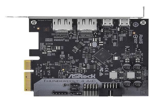 شركة ASRock تكشف عن بطاقة توسعة Thunderbolt 4 AIC المميزة